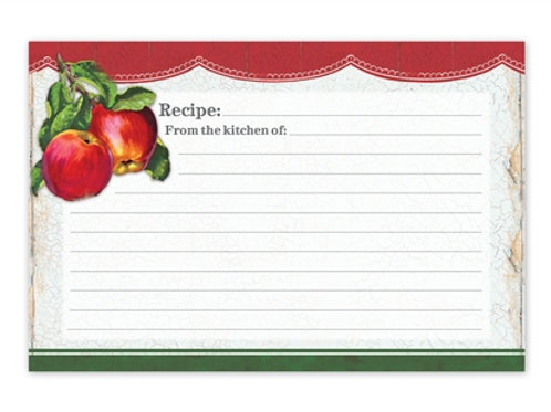 Vintage Apples Recipe Cards