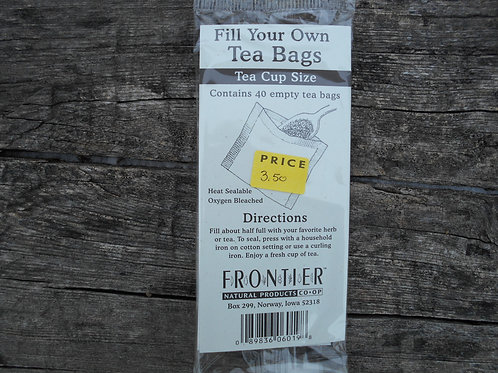 Fill-Your-Own-Teabags, Cup SIze, 40 ct.