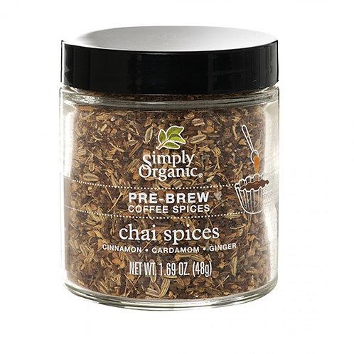 Chai Pre-Brew Coffee Spices, Organic