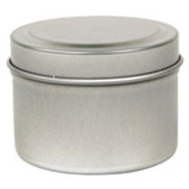 Round Metal Tin, 4 oz.