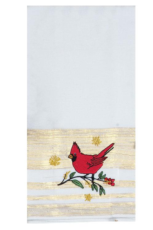 Christmas Cardinal Tea Towel