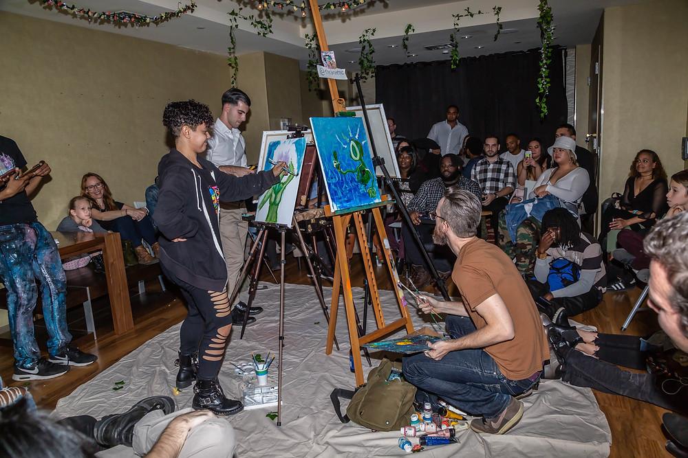 Arts Avenue NYC. Paint Battle Artists.