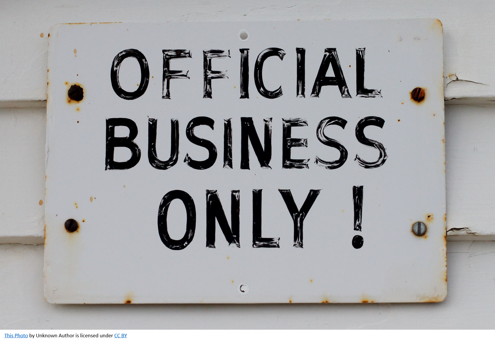 Official Business Only