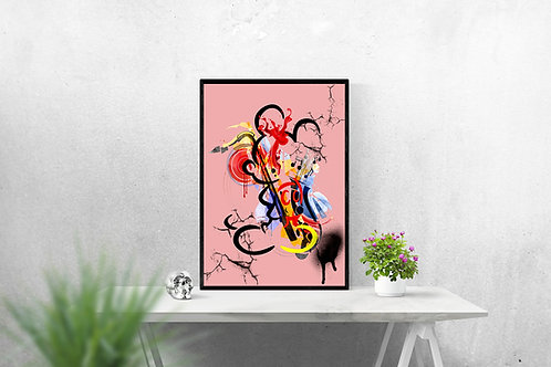 Mickey abstrait rose
