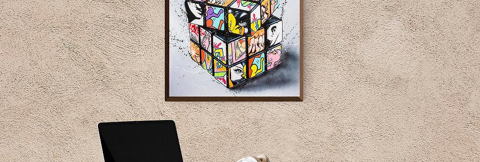 Rubik's cube street art