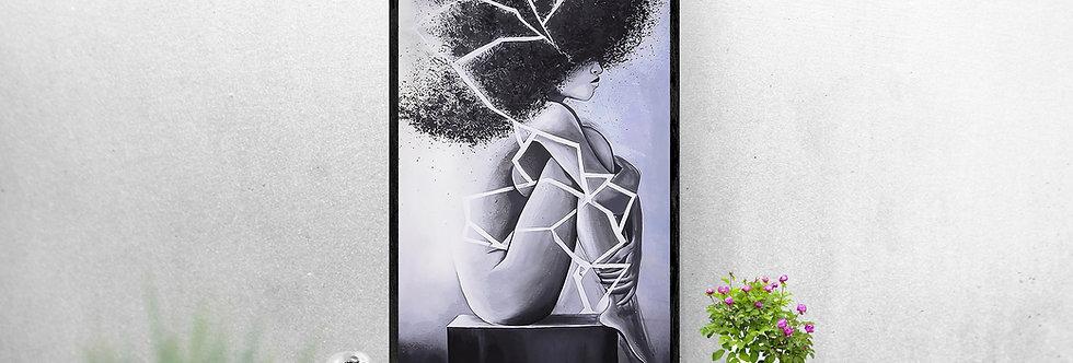 Femme afro abstrait