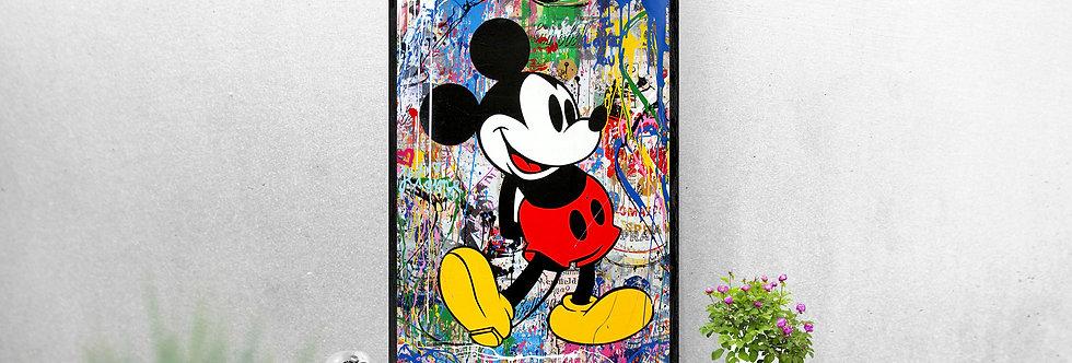 Mickey abstrait peinture