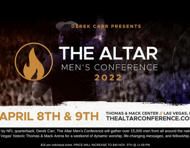 the altar men's conference