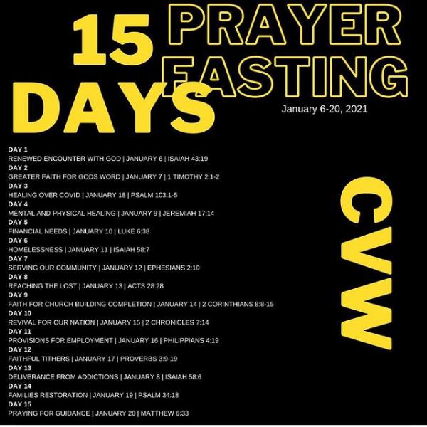 15 days of Fasting & Prayer
