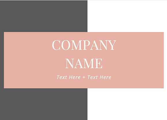 Slate Grey & Pink Business Cards