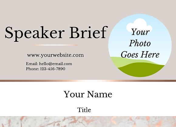Speaker Resume Kit (Beige)