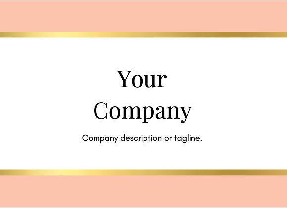 Peach Business Cards
