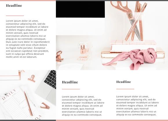 Promotional Brochure (Slate Grey & Pink)