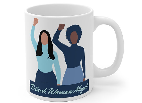 Black Woman Mogul Mug (Blue)