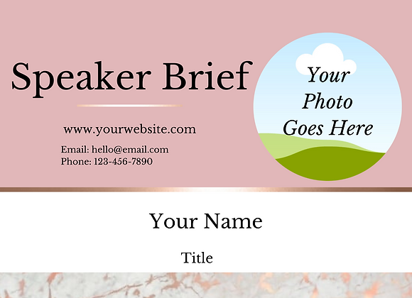 Speaker Resume Kit (Pink)