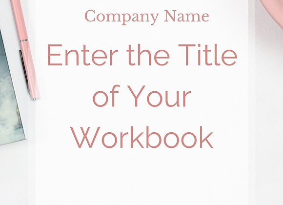 Marketing Workbook Template