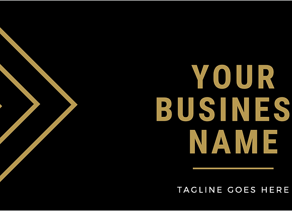 Black & Gold Lined Business Cards