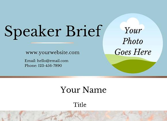 Speaker Resume Kit (Blue)