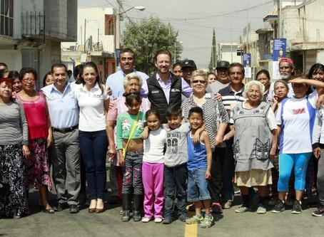 CON VIALIDAD PAVIMENTADA, SE MEJORA LA VIDA DE LAS FAMILIAS DE BOSQUES DE LA CAÑADA