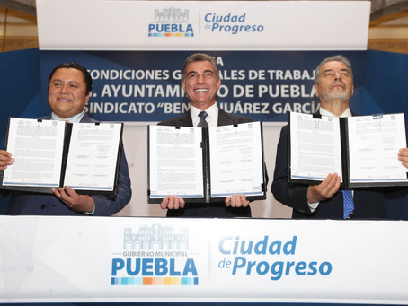 Tony Gali mejora condiciones laborales del Sindicato Benito Juárez