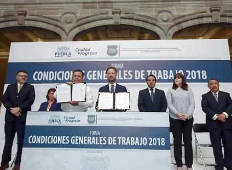 LUIS BANCK RECONOCE EL TRABAJO Y COMPROMISO DE TRABAJADORES SINDICALIZADOS