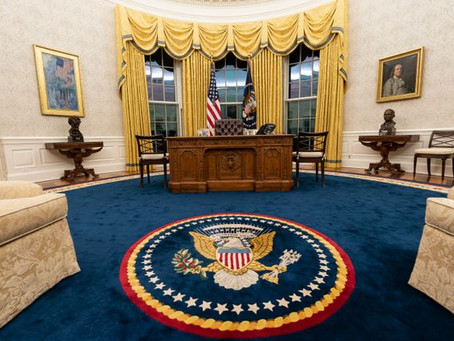 Rosa Parks, Luther King y una roca lunar: los cambios en el nuevo Despacho Oval de Biden