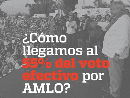 ¿Cómo llegamos al 55% del voto efectivo por AMLO?
