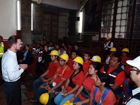 JÓVENES ESPECIALISTAS SE SUMAN A LAS TAREAS DE RESTAURACIÓN EN TEMPLOS DE LA CIUDAD