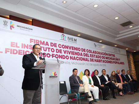 Signa Gobernador convenio por 100 mdp para impulso a la vivienda