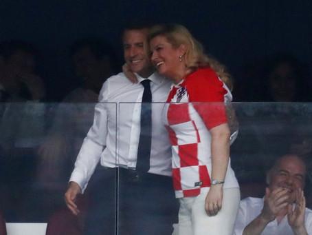 El ejemplo de deportividad de la presidenta de Croacia con Macron