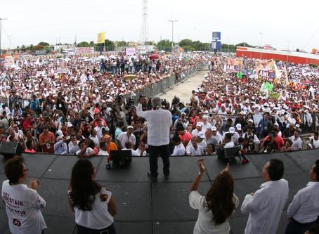 Cierra AMLO mañana en Tuxtla Gutiérrez, Villahermosa y Estadio Azteca