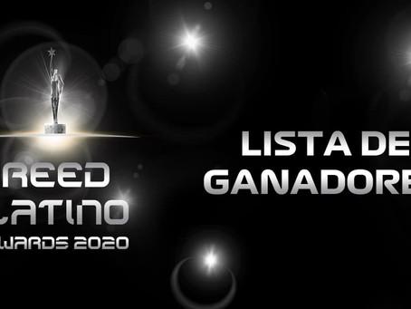 LISTA DE GANADORES REED LATINO 2020