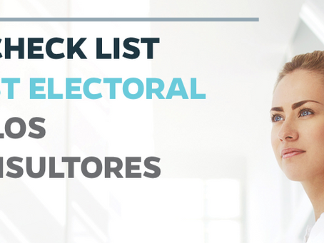 El Check List Post electoral de los consultores