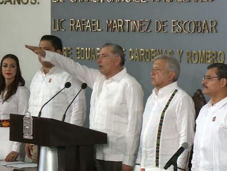 Toma protesta Adán Augusto López Hernández, como Gobernador de Tabasco