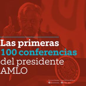Las primeras 100 conferencias del presidente AMLO