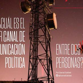 ¿Cuál es el mejor canal de comunicación política entre dos personas?