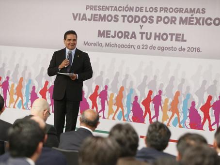 Presencia Gobernador lanzamiento de Viajemos Todos por México