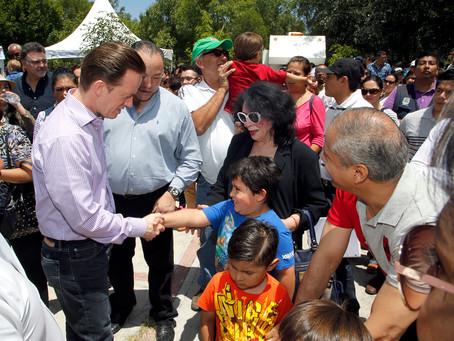 El Alcalde Luis Banck y su esposa Susana Angulo de Banck celebraron a la Gran Familia Poblana