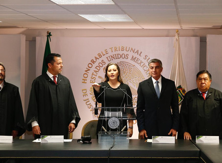 Martha Erika Alonso rinde protesta como Gobernadora Constitucional de Puebla ante el Tribunal Superi