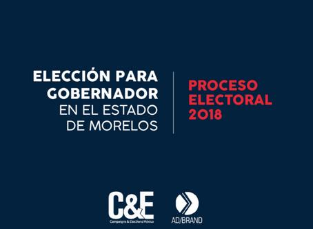 Encuesta para gobernador en el estado de Morelos levantada 19 - 21 de junio. Proceso electoral 2018