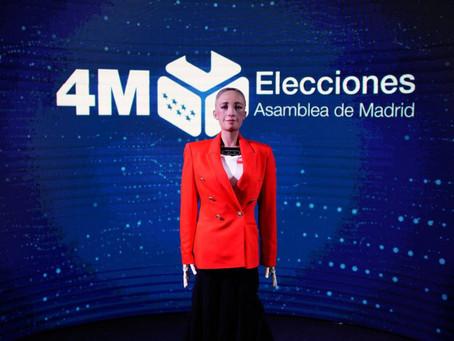 El robot Sophia ofrecerá datos en tiempo real sobre las elecciones en la Comunidad de Madrid