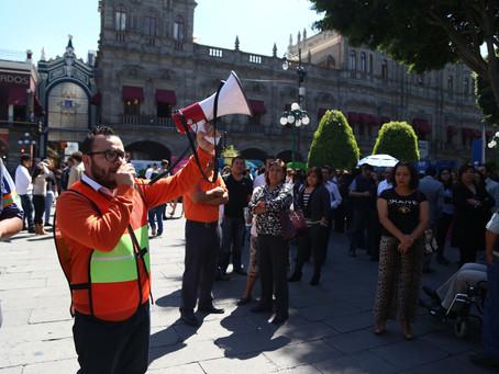 El Ayuntamiento de Puebla realizó simulacro de evacuación en caso de sismo para prevenir contingenci