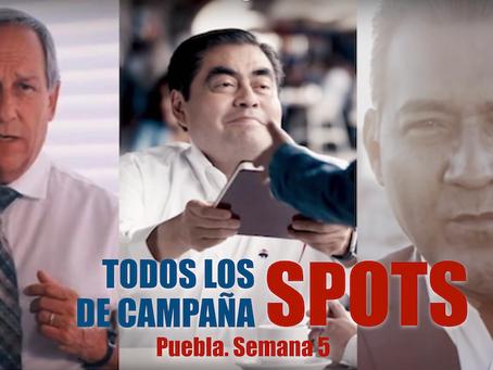 Los spots de campaña para gobernador en Puebla. Semana 7.