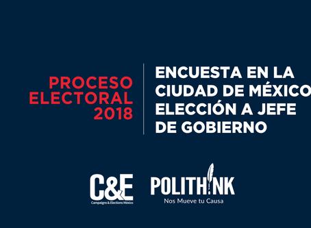 ENCUESTA EN LA CIUDAD DE MÉXICO ELECCIÓN A JEFE DE GOBIERNO. 21-24 junio 2018