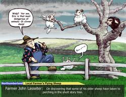 john & eric caricature