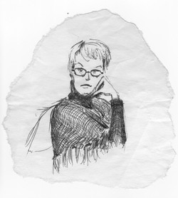 Michelle napkin portrait