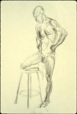 george 3 standing stool