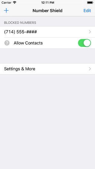 Allow Contacts Screenshot