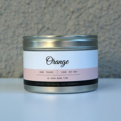 Orange Candle Tin