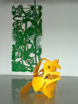 La pieuvre et le papillon  2013  Galerie Julio Gonzalez   Arcueil 94.jpg